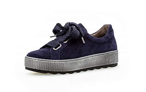 Gabor Damen Sneaker, Frauen Low-Top Sneaker,Comfort-Mehrweite,Optifit- Wechselfußbett, sportschuh Plateau-Sohle weiblich Lady,Bluette,40 EU / 6.5 UK