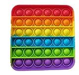 BC Gels® Bubble Sensory Fidget Juguete para aliviar el estrés, Burbujas de Silicona, Autismo Redondo Educativo Juguetes de Silicona antiansiedad (Rainbow)