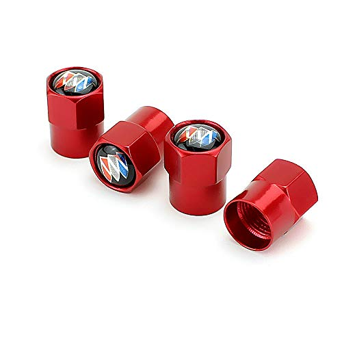 EVPRO Tire Valve Stem Caps 4 Pack Red Fit for Buick Accessories