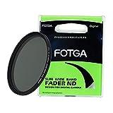 Fotga - Filtro de Densidad Neutra Ajustable ND2 a ND400 ND para cámaras réflex Digitales sin Espejo (72 mm), Color Negro