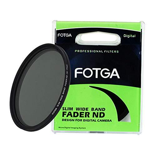 Fotga 86 mm Slim Fader variabel einstellbar ND2 bis ND400 ND Neutral Density Filter für DSLR Mirrorless Cameras Lens (schwarz)