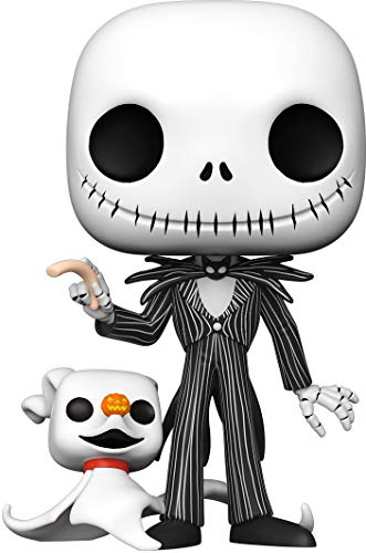 Funko 49006 POP Disney Christmas-10 The Nightmare Before Christmas Jack w/Zero Sammelbares Spielzeug, Mehrfarben