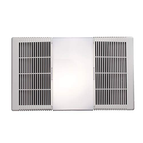 Broan-Nutone 665RP Heater, Fan, and Light Combo for Bathroom and Home, 4.0 Sones, 1300-Watt Heater, 100-Watt Light, 70 CFM