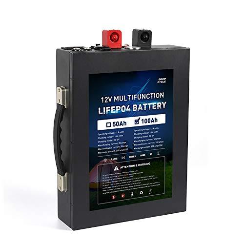 Batería De 12V 100AH LiFePo4 Gran Capacidad De Litio...