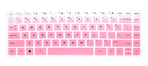Silicone Keyboard Cover Skin for HP 14-ab 14-ac 14-ad 14-an Series, 14-ab010 / ab166us 14-ac159nr 14-al062nr 14-an010nr / an013nr / an080nr, 14' HP Stream 14-ax010nr, HP ENVY 14-j0 Series (Pink Ombre)