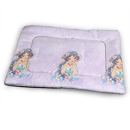 YAGEAD Huge Pet Pad, Elegant Princess Jasmine Soft Dog Bed Mat, Anti-Slip Pet Kennel Bed for Oversized Pet,31'x21'