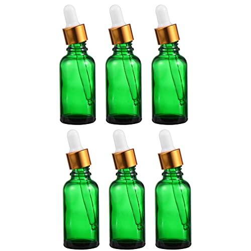 EXCEART 6Pcs 30Ml Glas Dropper Flasche Ätherisches Öl Flaschen mit Pipette Deckel Leere Nachfüllbare Make- Up Kosmetische Dispenser Container Parfüm Probe Fläschchen Reise Glas Essenz
