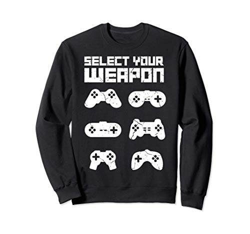 SELECCIONA TU ARMA Cool Gamer Gaming Funny Gamer Sudadera