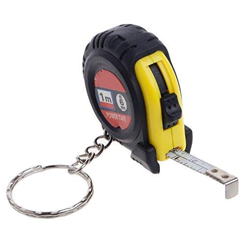JKKJ Regla de cinta métrica retráctil de mini regla de tirón portátil llavero de bloqueo deslizante estable plástico portátil 1 m regla retráctil llavero