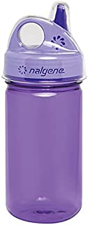 Nalgene Grip-N-Gulp Bottle with Cover, Purple, 12 oz
