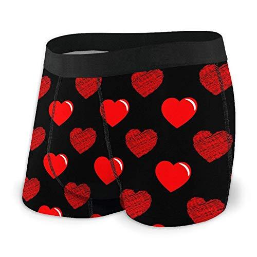 Brave Har Herren Boxershorts Fitted Briefs Valentinstag Rote Herz Trunks Quick Dry Unterwäsche