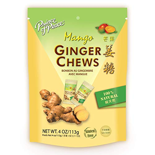 Prince of Peace Ginger Chews with Mango, 4 oz. – Candied Ginger – Mango Candy – Mango Ginger...