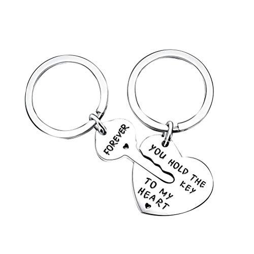 VOSAREA Porte-clés Porte-clés Alliage Porte-clés Pendaison Ornement avec Gravure Mots Cadeaux de la Saint Valentin