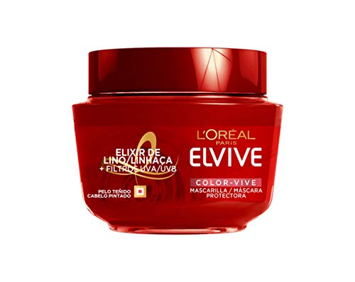 L'Oréal Paris Elvive Color Vive Mascarilla Protectora Cabellos Teñidos o con Mechas Nutre en Profundidad - 300 ml