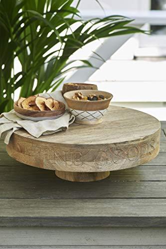 Riviera Maison - Fine Goods - Tortenplatte/Kuchenplatte - Holz/Mangoholz - (ØxH): 38 x 14,5 cm