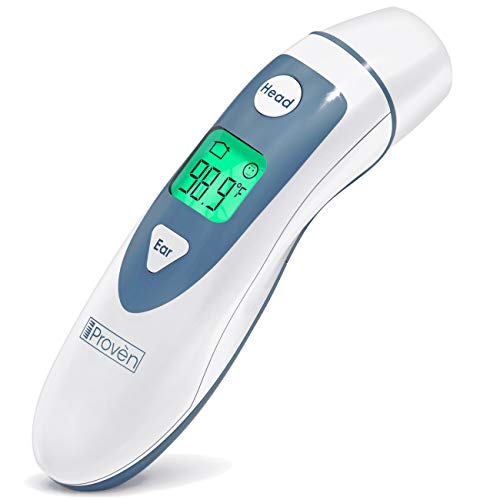 Sale!! [New 2020 Model] iProven Digital Baby Thermometer - Infant Forehead and Ear Thermometer - Pou...