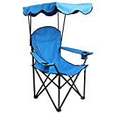 ALPHA CAMP Camp Chair with Shade Canopy Folding Camping Recliner Chair with Carry Bag for Outdoor...