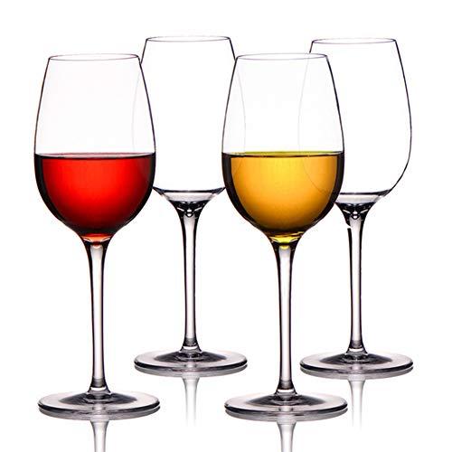 Vaso de vino de plástico Tritan, irrompible, transparente, resistente a las caídas, copas de vino de alta calidad, para todas las ocasiones (4 piezas)