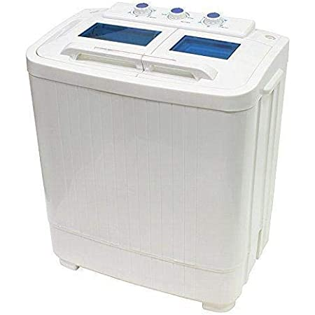 XtremepowerUS Portable Compact Washer and Spin Dry Cycle with Built in Pump 1.25 cu.ft