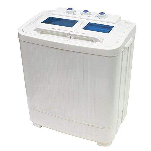 Portable Compact Washer and Spin Dry Cycle with Built in Pump (33L...