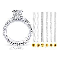6 TAILLES: Ajusteur de taille d'anneau est fait de PU dans 1.2 mm / 2 mm / 3mm / 4mm de large, les rehausseurs de bague sont si confortables que vous ne vous sentez même pas là LONGUEUR: 10 cm / 4 pouces, peut être raccourci pour ajuster la réduction...