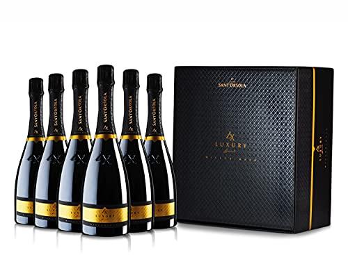 Sant'Orsola Prosecco DOC LX Brut Millesimato Vino Espumoso Italiano Seco - 6 Botellas X 750ml