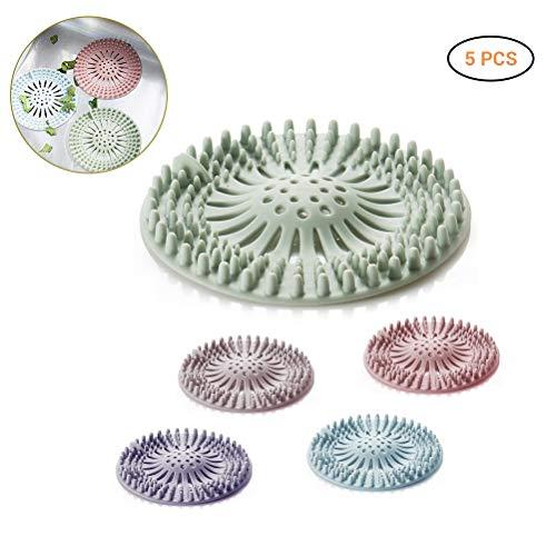 Ourine Haarfänger Waschbecken Sieb Filter, TPR Haarfänger Haar Stopper Waschbecken Sieb Filter Duschablauf Abdeckungen für Bad Badewanne und Küche b