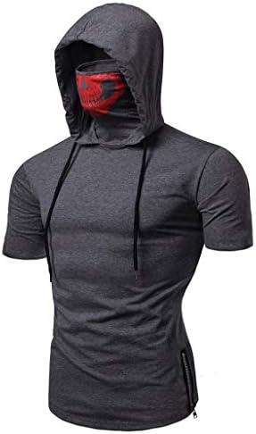 Realdo Mens Hoodie Mens Skull Pullover Casual Solid Zip Long Sleeve Hooded Sweatshirt Tops Large product image