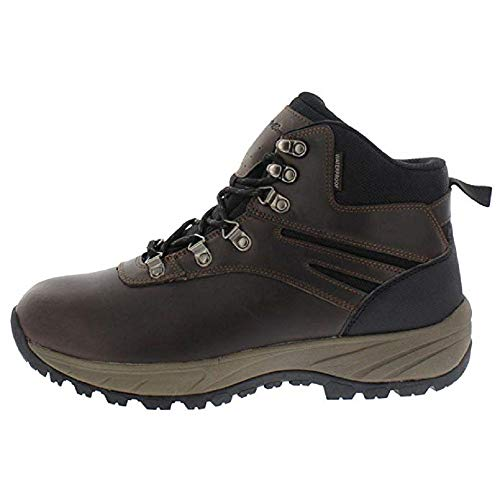 Eddie Bauer Everett Mens Hiking Boots, Insulated Traction Waterproof Boots for Men, Brown, 9 M US