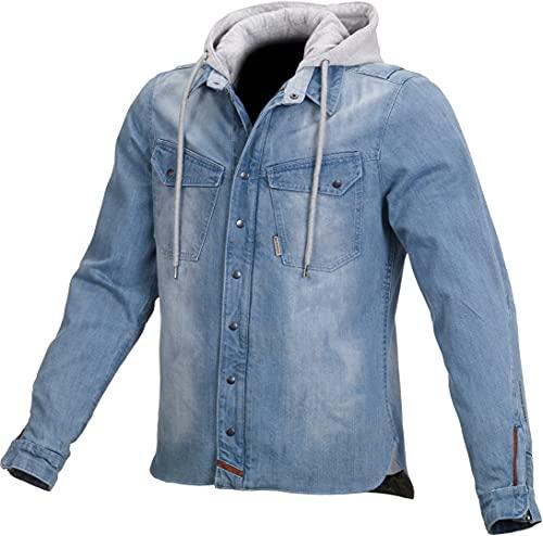 Macna Hoodie Sweatshirt Sweatjacke Kapuzenpullover Westcoat Jeansjacke mit Kapuze blau M, Herren, Chopper/Cruiser, Ganzjährig, Textil