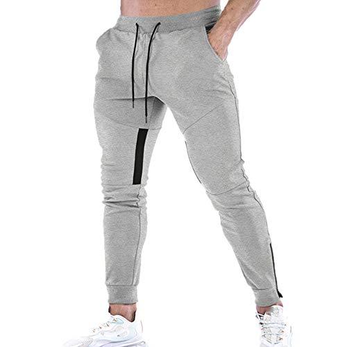 N\P Fitness pantalones de entrenamiento pantalones hombres pie boca cremallera diseño hombres deportes gimnasio para