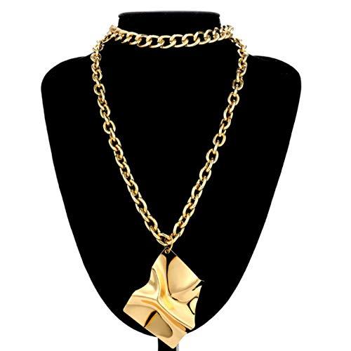 Hanger Ketting Choker Kettingen Vintage Gouden Multi Gelaagde Ijzeren Platen Hanger Ketting Verklaring Punk Blad Lange Ketting Vrouwen Sieraden Accessoires