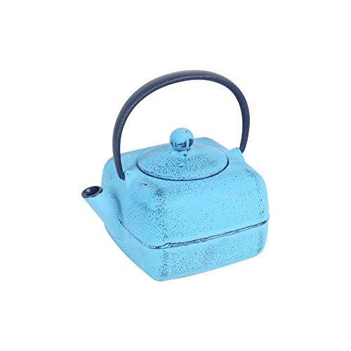 Art Deco Home theepot, ijzer, 0,42 l, blauw