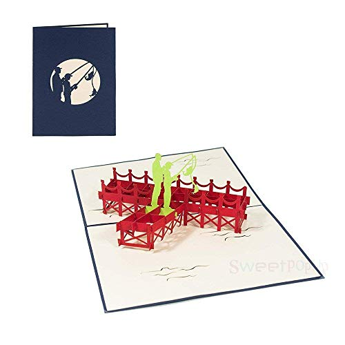 3D Pop Up Glückwunschkarte für Liebe Valentinstag Urlaub Karte Gutschein für Geburtstag Einladung Reise Freizeit Ausflug - Angelpaar