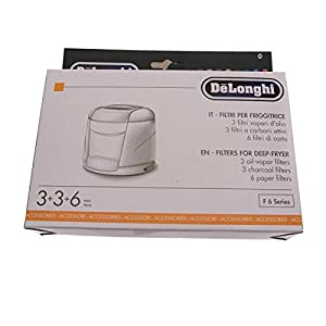DELONGHI Kit filtros Anti olores–Anti Vapor F330F350F612F627F17221F17223F17231F17233F17301F17311F17431F17433freidora f17233