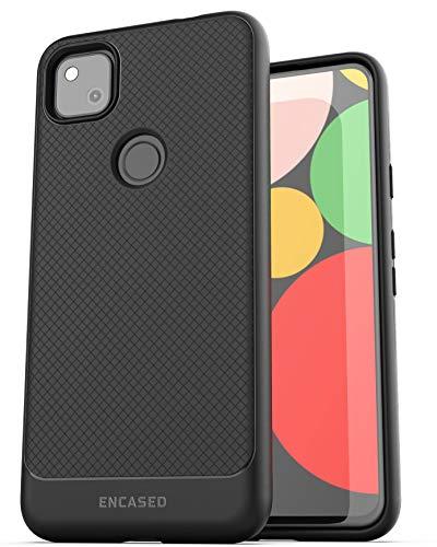 Encased Pixel 4a Schutzhülle (dünne Armor) für Google Pixel 4a, flexible Handgriffigkeit, Schwarz