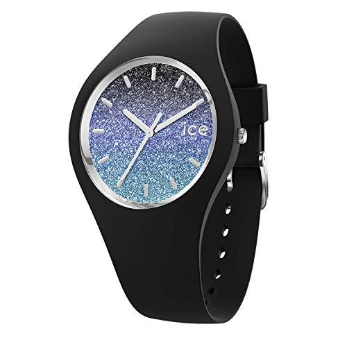 Ice-Watch - ICE lo Milky way - Schwarze Damenuhr mit Silikonarmband - 016903 (Medium)
