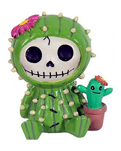 Horror-Shop Furrybones Monster - Kaktus Prickle | ca. 7 cm hoch, 4,5 cm breit & 5 cm tief