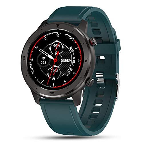 Relojes inteligentes, relojes inteligentes para hombres y mujeres, pulseras, rastreadores de actividad física, monitores de frecuencia cardíaca a prueba de agua para dispositivos portátiles: verde