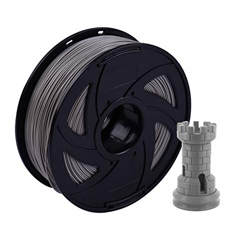 Irfora ABS Filament, 3D Printer Filament 1.75mm ABS Filament 1KG(2.2LBS)/ Spool Vacuum Sealed for Most FDM 3D Printer, Grey
