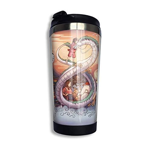 Spirited Away - Taza de café con tapa (13 onzas)