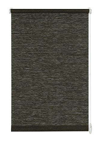 GARDINIA Rollo zum Klemmen oder Kleben, Tageslicht-Rollo, Blickdicht, Alle Montage-Teile inklusive, EASYFIX Rollo Natur, Schwarz/Weiß, 120 x 150 cm (BxH)