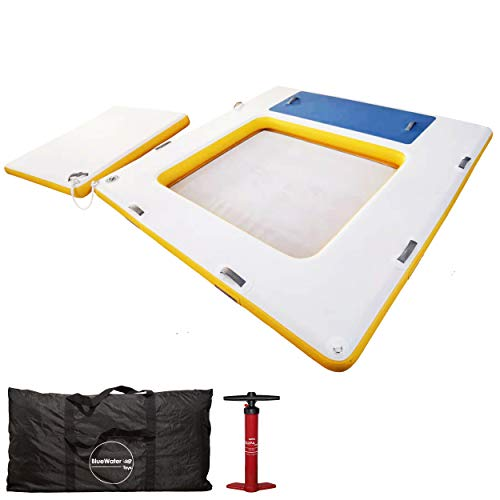 Blue Water Toys Patented 3 in 1 Inflatable Swim Platform with Removable Floating...