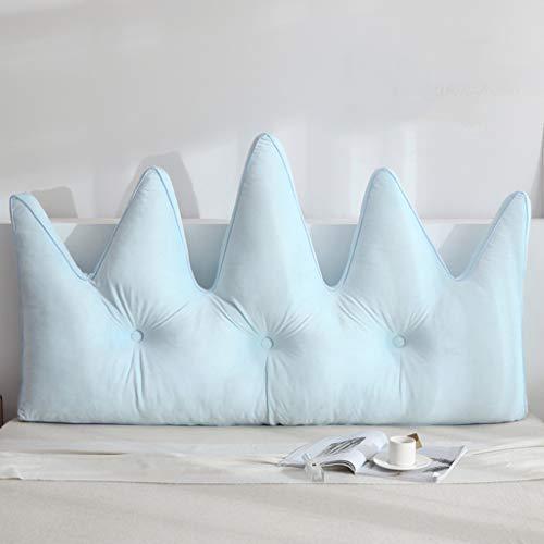 JFBZSH cabecero cama Cabeceros De Almohada Estilo Princesa Nórdica para Camas Queen - Cabecera De Almohada De Color Sólido con Corona Pentagonal - Relleno De Algodón Perla De Alta Elasticidad