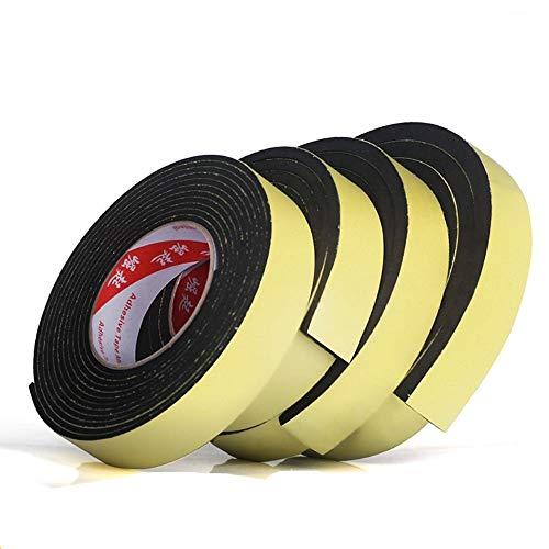 5 meter EVA enkelzijdige zelfklevende waterdichte weerstrip schuim spons rubberen strip tape voor raamdeurafdichting thuis hardware, 10 mm dik x 2 meter, 20 mm breed