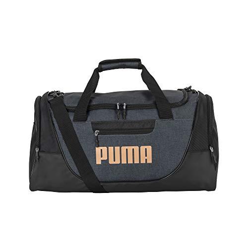 PUMA unisex adult Duffel Bag, Heather Gray, One Size US