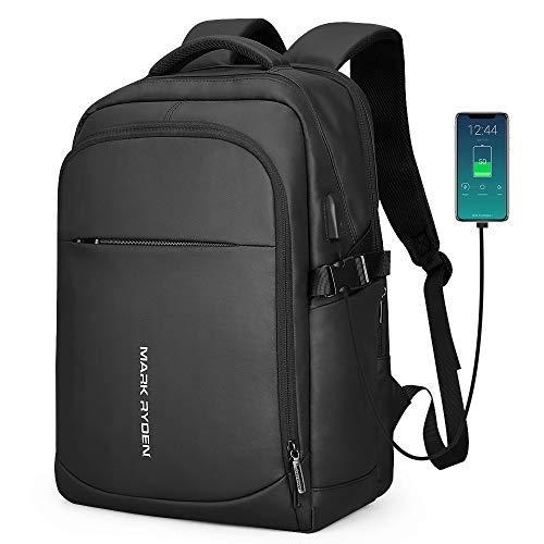 MARK RYDEN Mochila para portátil AntirroboMochila de Negocios Impermeable para Hombre Mochila Escolares con Puerto de USB para Ordenador 15.6 Pulgadas(Negro 4.0)