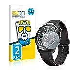 BROTECT Full-Cover Schutzfolie kompatibel mit Mobvoi Ticwatch Pro 3 GPS (2 Stück) - Full-Screen Bildschirmschutz-Folie, 3D Curved, Kristall-Klar
