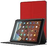 FC Hülle für Neue Fire HD 10 Tablet - Schutz Amazon Fire HD 10 Tablet (9. Gen 2019 und 7. Gen 2017) Hülle Ständer - Ultra Dünn und Leicht, Smart Auto Schlaf Wach - Rot