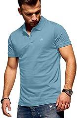 JACK & JONES Camiseta Tipo Polo Manga Corta Hombre Azul